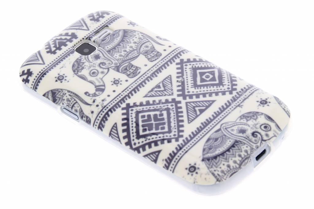 Olifanten design TPU siliconen hoesje voor de Samsung Galaxy Trend Lite