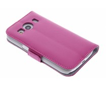 Fuchsia luxe booktype hoes Samsung Galaxy Ace 4