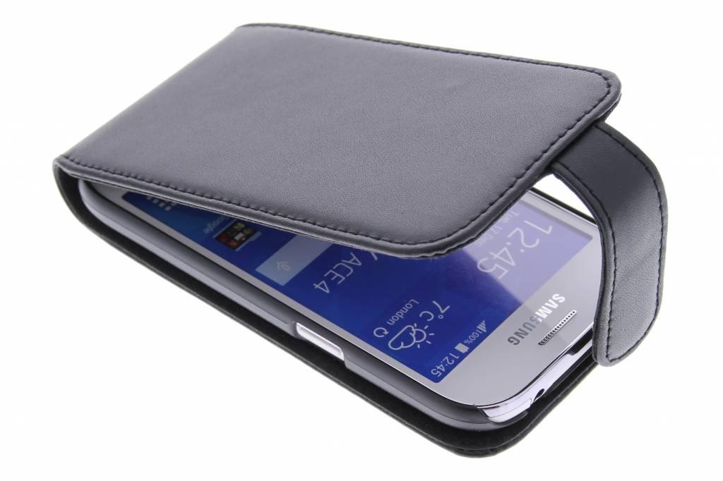 Zwarte stijlvolle flipcase voor de Samsung Galaxy Ace 4