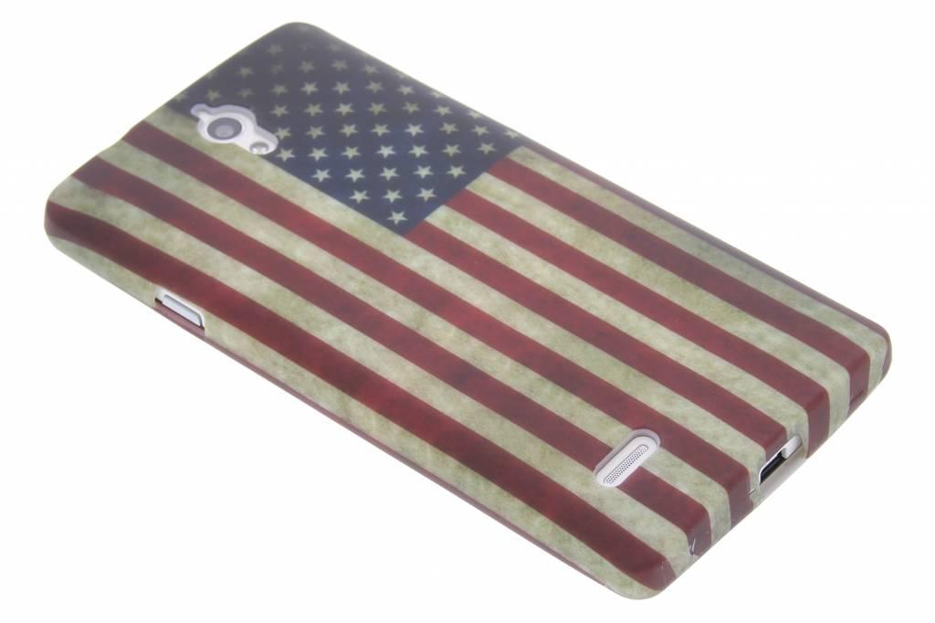 Amerikaanse vlag design TPU siliconen hoesje voor de Huawei Ascend G700