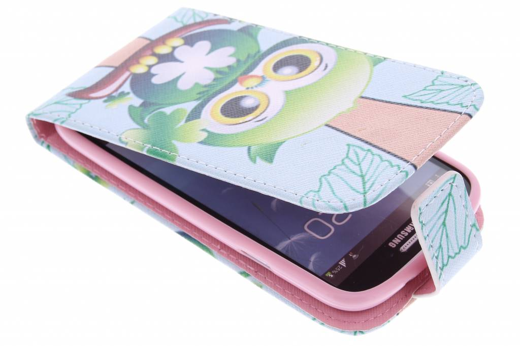 Uiltje design TPU flipcase voor de Samsung Galaxy S3 / Neo