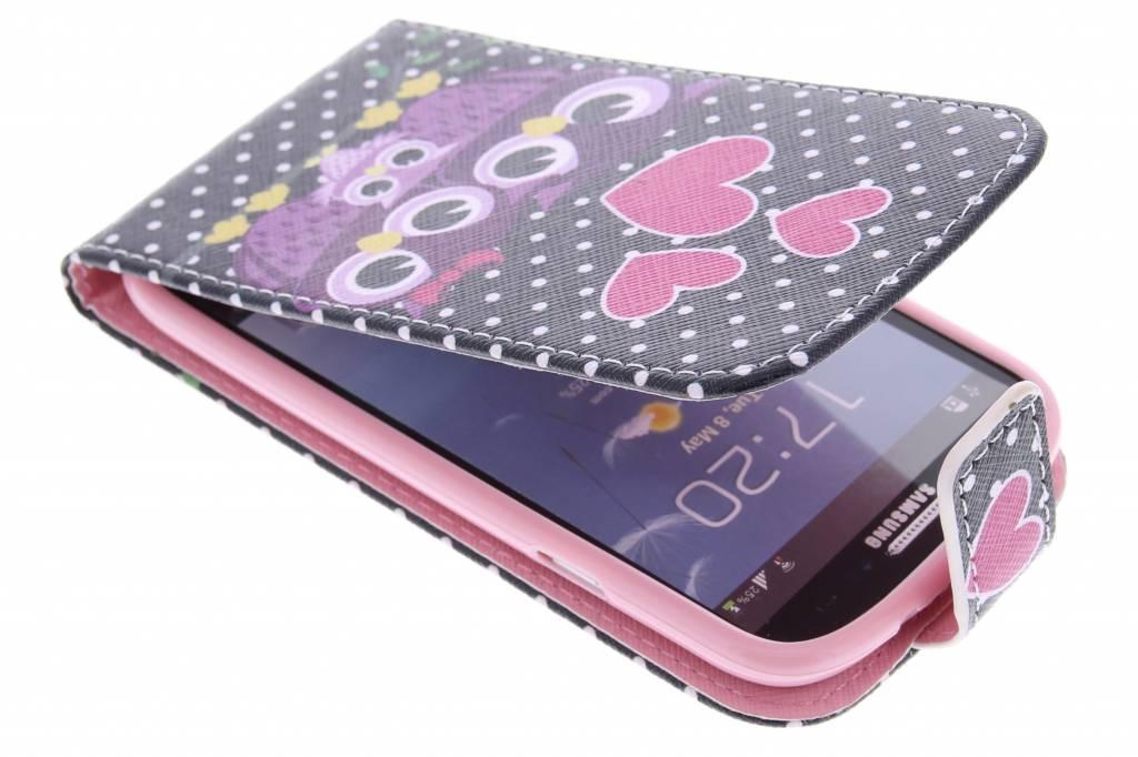 Uiltjes design TPU flipcase voor de Samsung Galaxy S3 / Neo