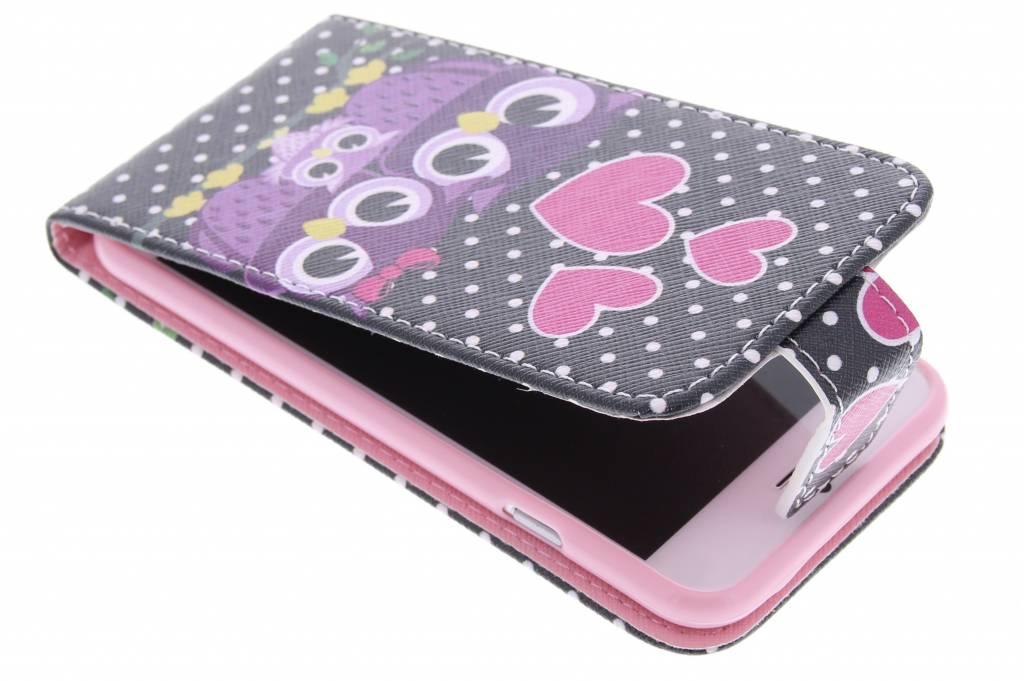 Uiltjes design TPU flipcase voor de iPhone 6 / 6s