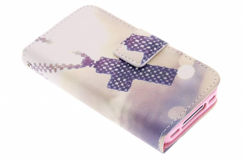 Kruis design TPU booktype hoes voor de iPhone 4 / 4s