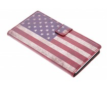 Vintage vlag booktype hoes Sony Xperia Z2