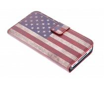 Vintage vlag booktype hoes iPhone 4 / 4s