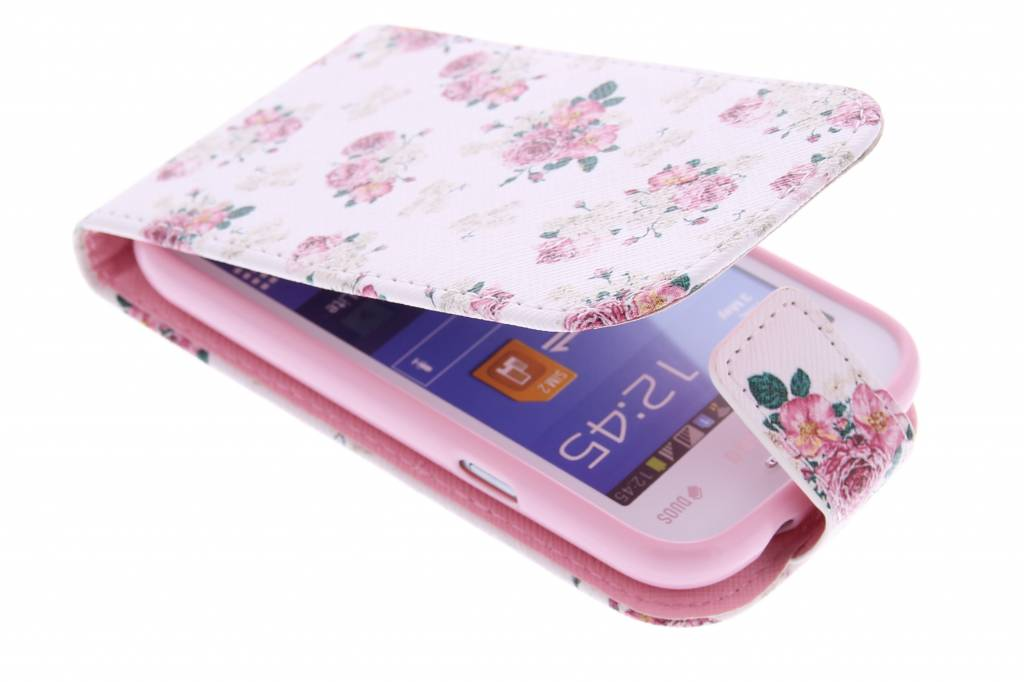Roosjes design TPU flipcase voor de Samsung Galaxy Trend Lite