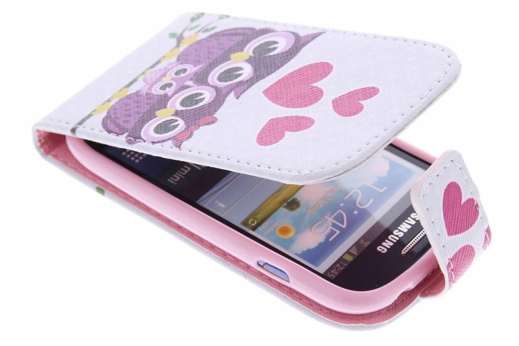 Uiltjes design TPU flipcase voor de Samsung Galaxy S3 Mini