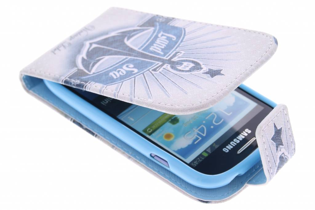 Anker design TPU flipcase voor de Samsung Galaxy S3 Mini