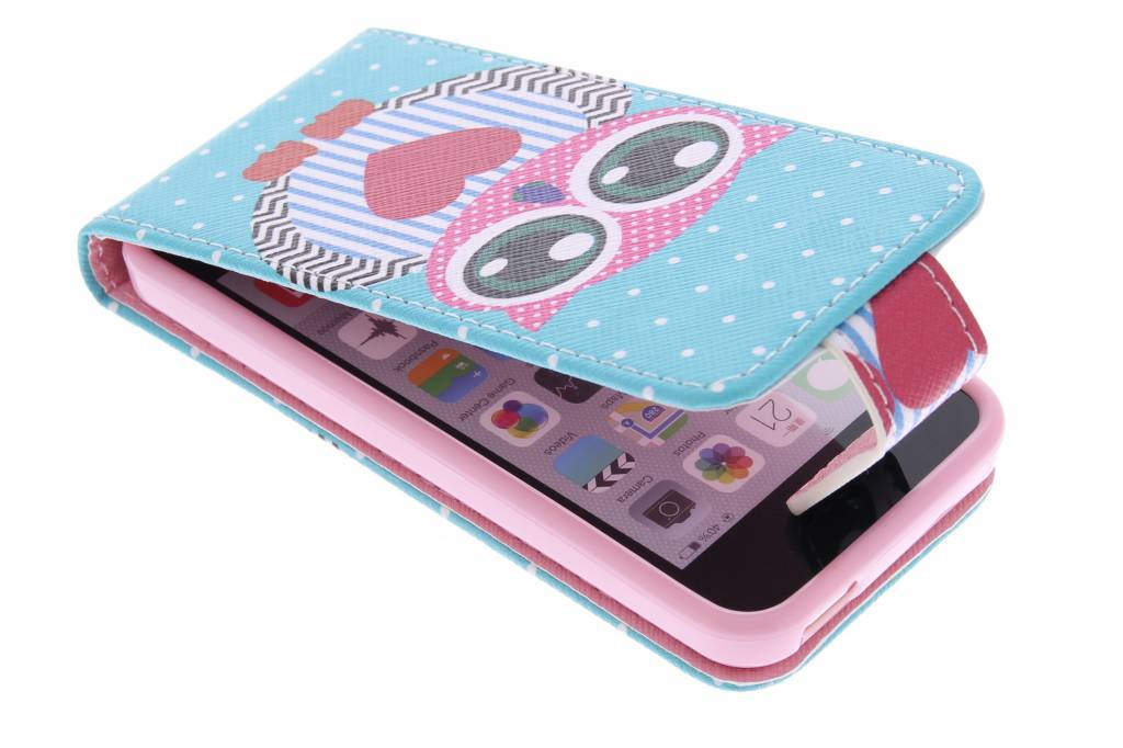 Uil design TPU flipcase voor de iPhone 5c