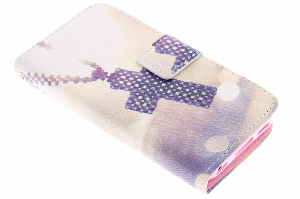 Kruis design TPU booktype hoes voor de iPhone 5c