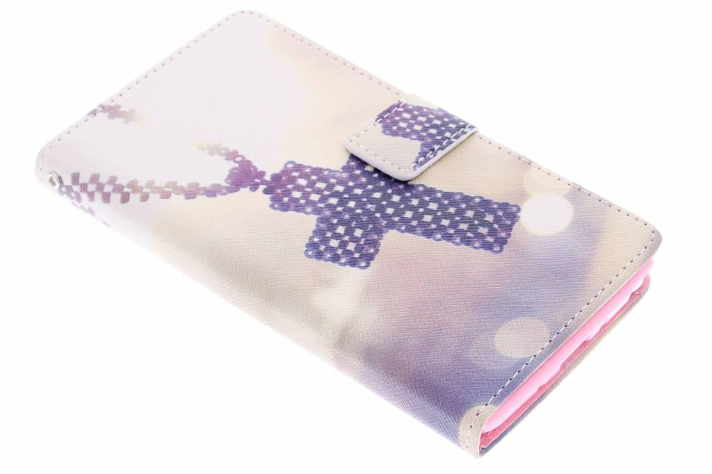 Kruis design TPU booktype hoes voor de Samsung Galaxy Note 4