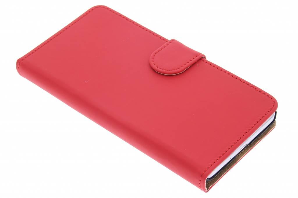 Rode effen booktype hoes voor de Samsung Galaxy Grand Prime