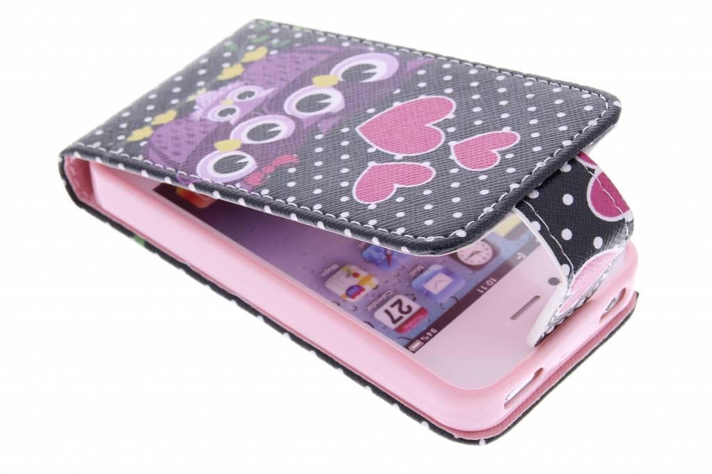 Uiltjes design TPU flipcase voor de iPhone 4 / 4s