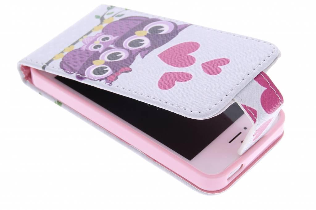 Uiltjes design TPU flipcase voor de iPhone 5 / 5s / SE