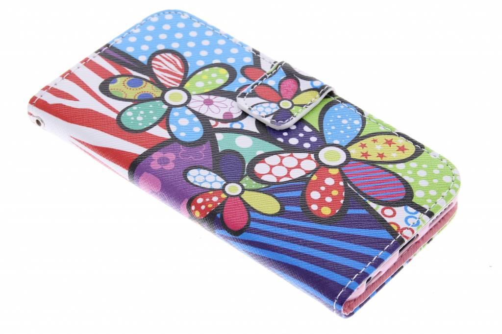 Bloemen design TPU booktype hoes voor de iPhone 6 / 6s