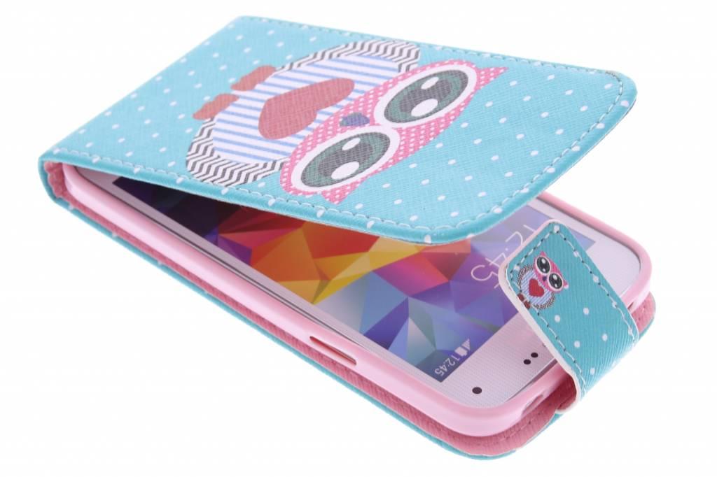 Uil design TPU flipcase voor de Samsung Galaxy S5 Mini