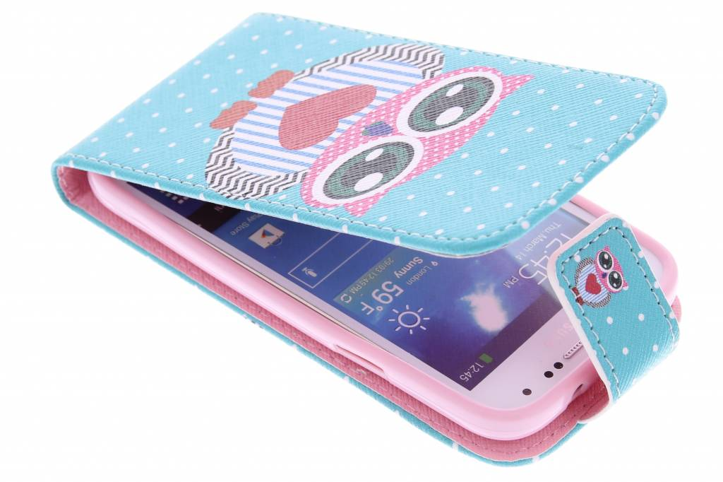 Uil design TPU flipcase voor de Samsung Galaxy S4 Mini