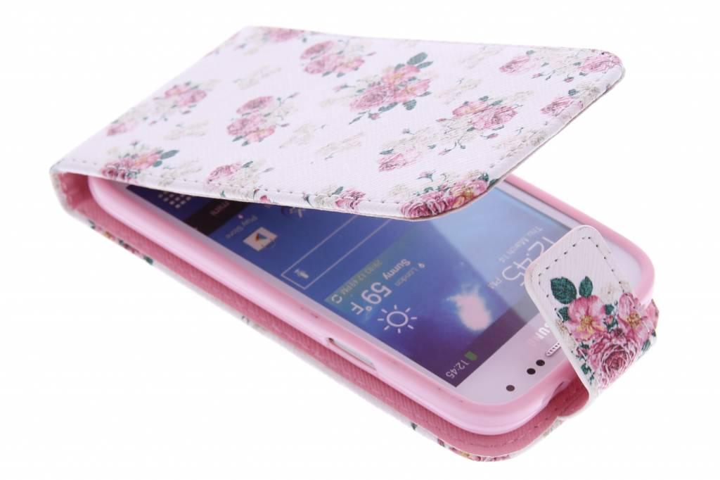 Roosjes design TPU flipcase voor de Samsung Galaxy S4 Mini