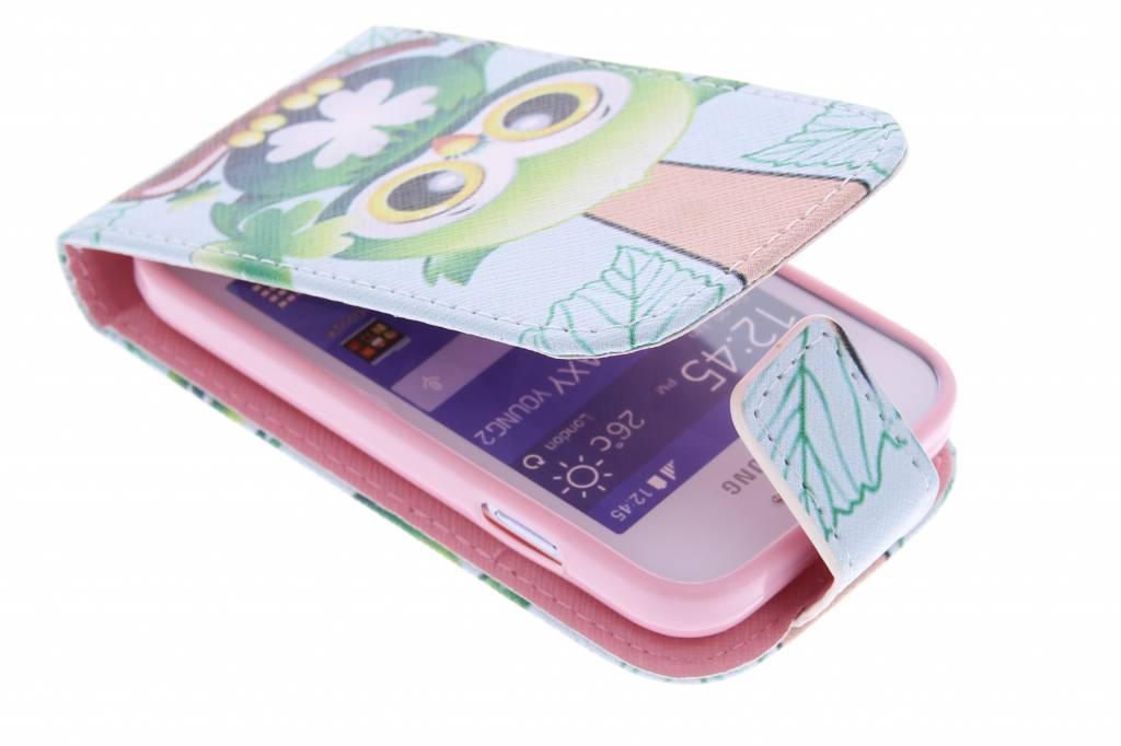 Uil design TPU flipcase voor de Samsung Galaxy Young 2