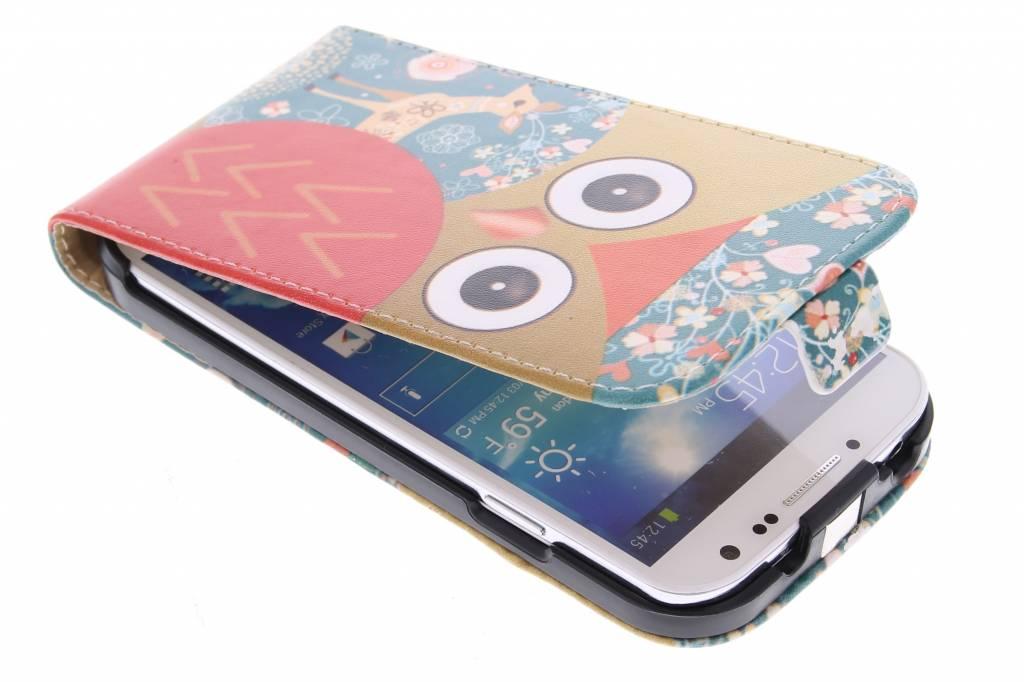 Uil design flipcase voor de Samsung Galaxy S4