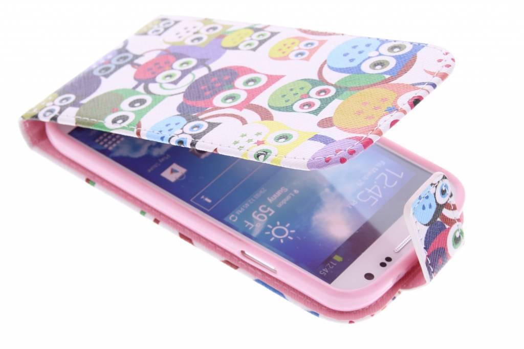 Uiltjes design TPU flipcase voor de Samsung Galaxy S4
