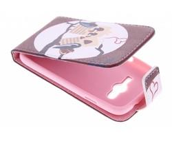 Design TPU flipcase Samsung Galaxy Trend 2 (Lite)