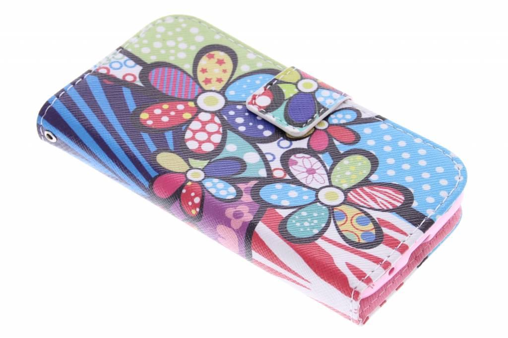 Bloemen design TPU booktype hoes voor de Samsung Galaxy Trend 2 (Lite)