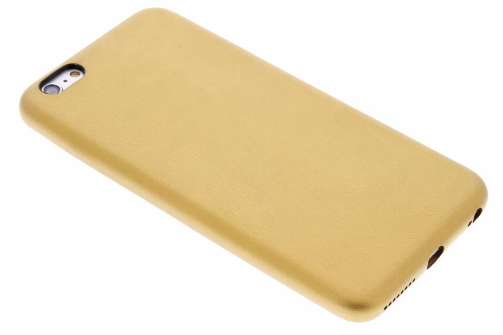Gouden lederen hardcase voor de iPhone 6(s) Plus