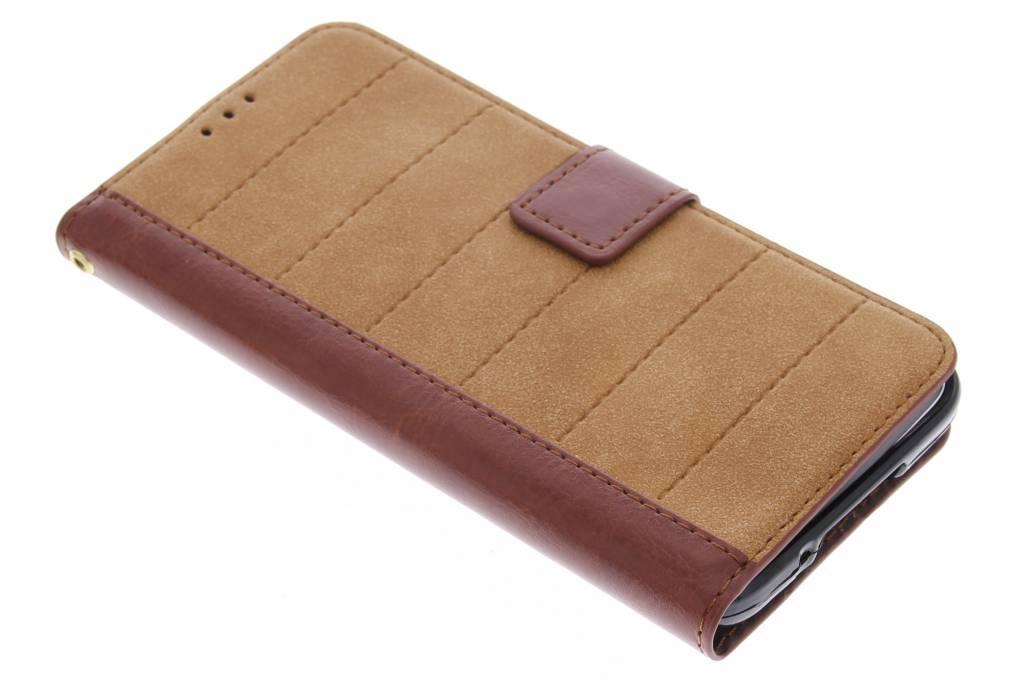 Bruine business TPU booktype hoes voor de Samsung Galaxy S5 (Plus) / Neo