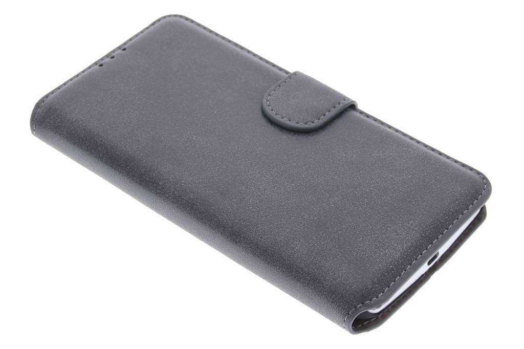 Grijze suède look booktype hoes voor de Motorola Nexus 6