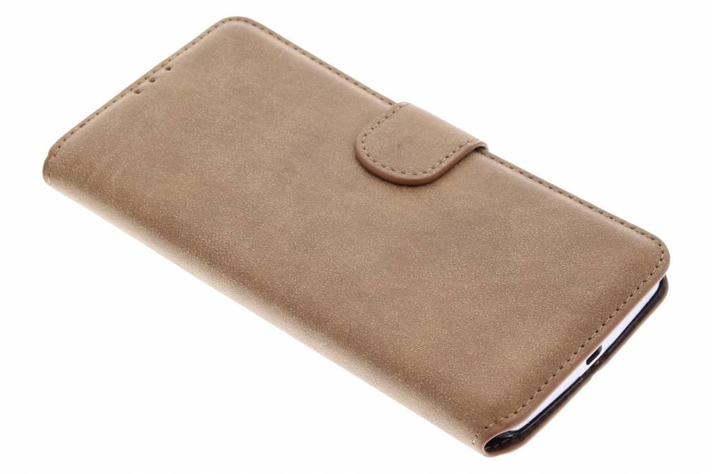 Bruine suède look booktype hoes voor de Motorola Nexus 6