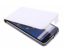Wit luxe flipcase Motorola Nexus 6