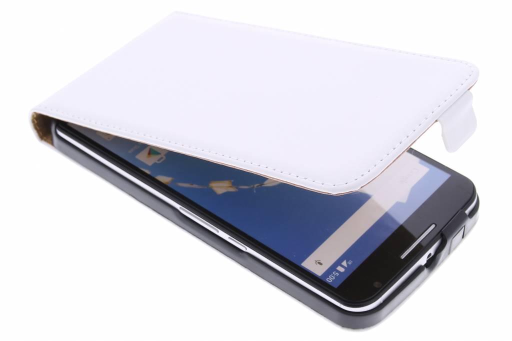 Witte luxe flipcase voor de Motorola Nexus 6