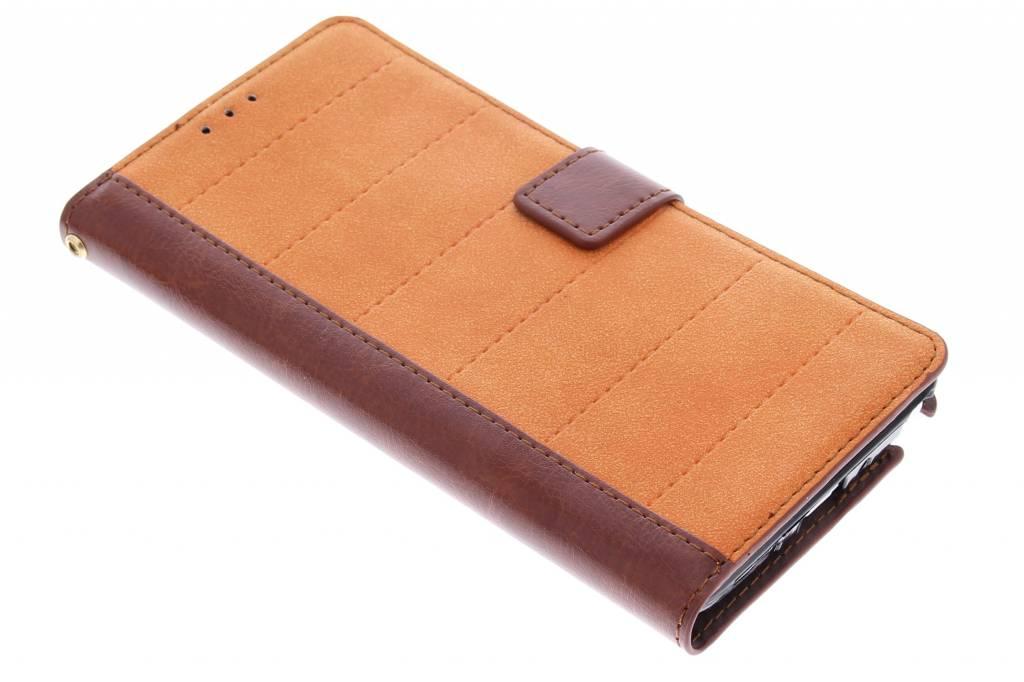 Oranje business TPU booktype hoes voor de Samsung Galaxy Note 4