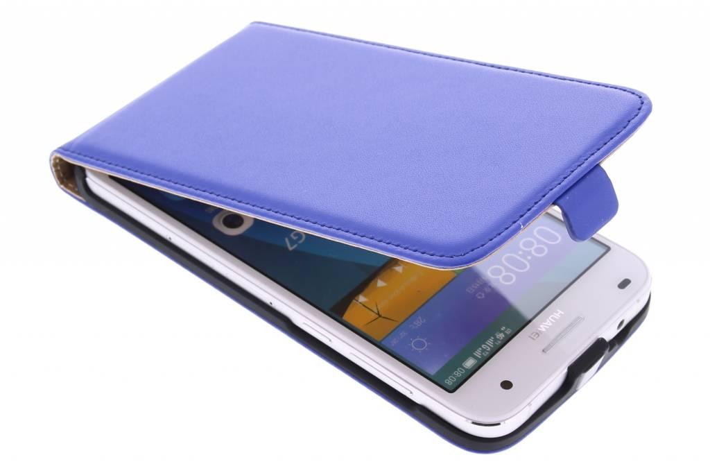 Blauwe luxe flipcase voor de Huawei Ascend G7