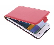 Rood luxe flipcase Huawei Ascend G7