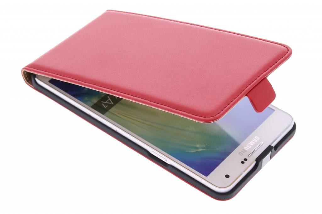 Rode luxe flipcase voor de Samsung Galaxy A7