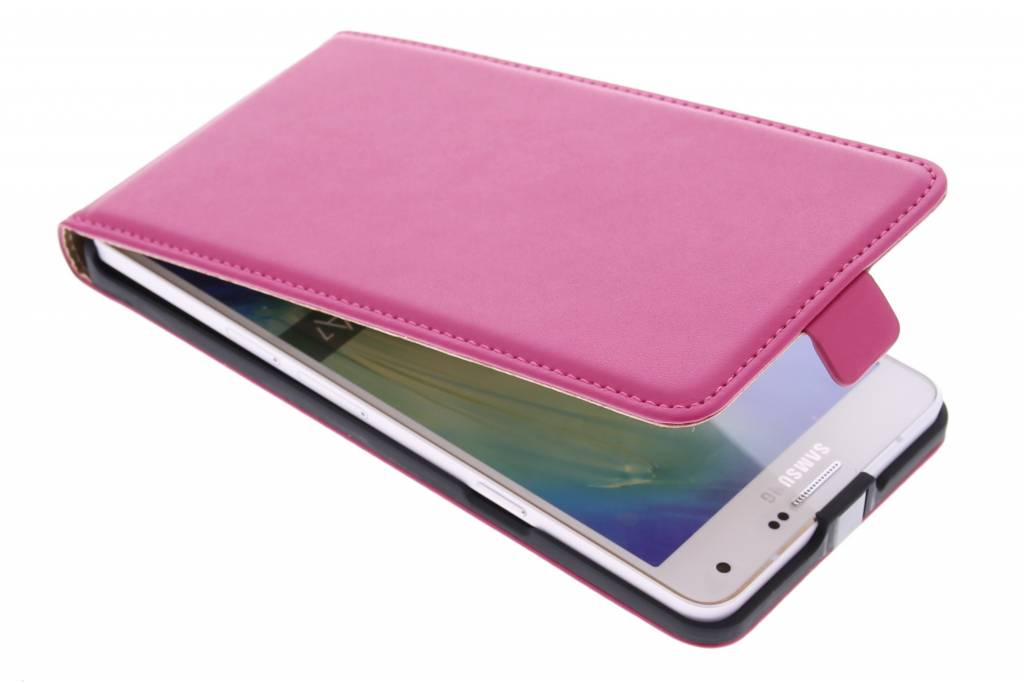 Fuchsia luxe flipcase voor de Samsung Galaxy A7