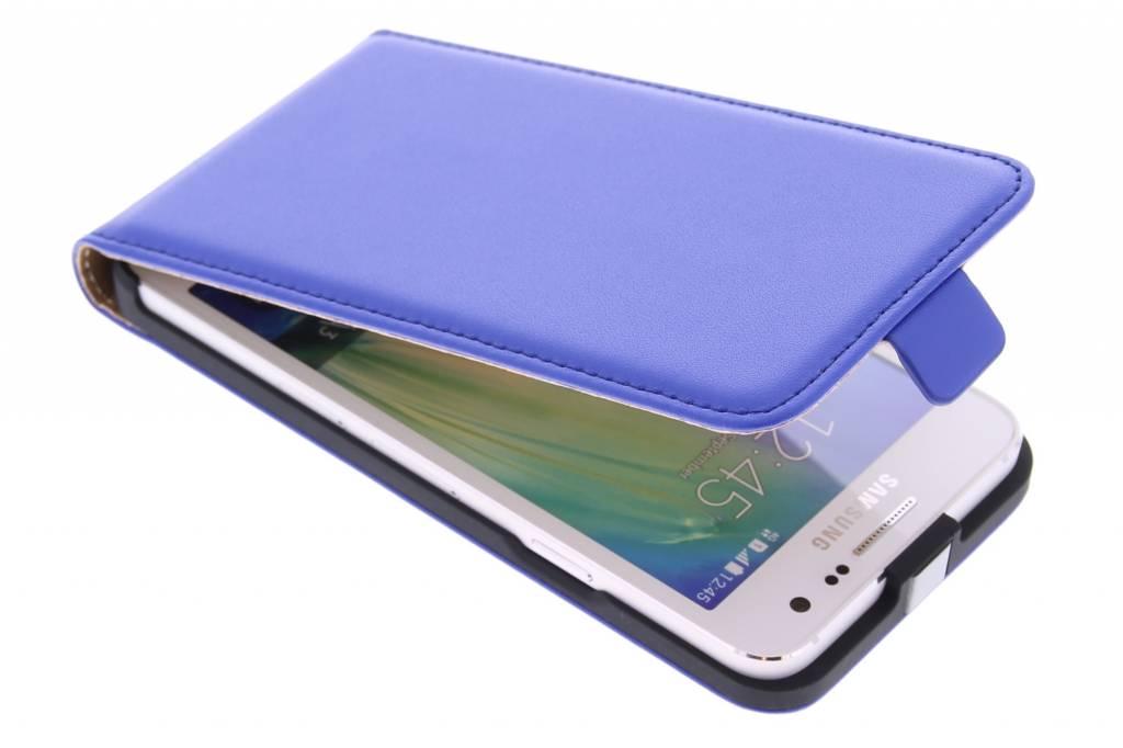 Blauwe luxe flipcase voor de Samsung Galaxy A3