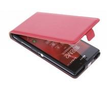 Rood luxe flipcase Sony Xperia M2 (Aqua)