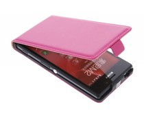 Fuchsia luxe flipcase Sony Xperia M2 (Aqua)