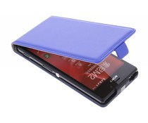 Blauw luxe flipcase Sony Xperia M2 (Aqua)