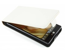 Wit luxe flipcase LG Optimus L9