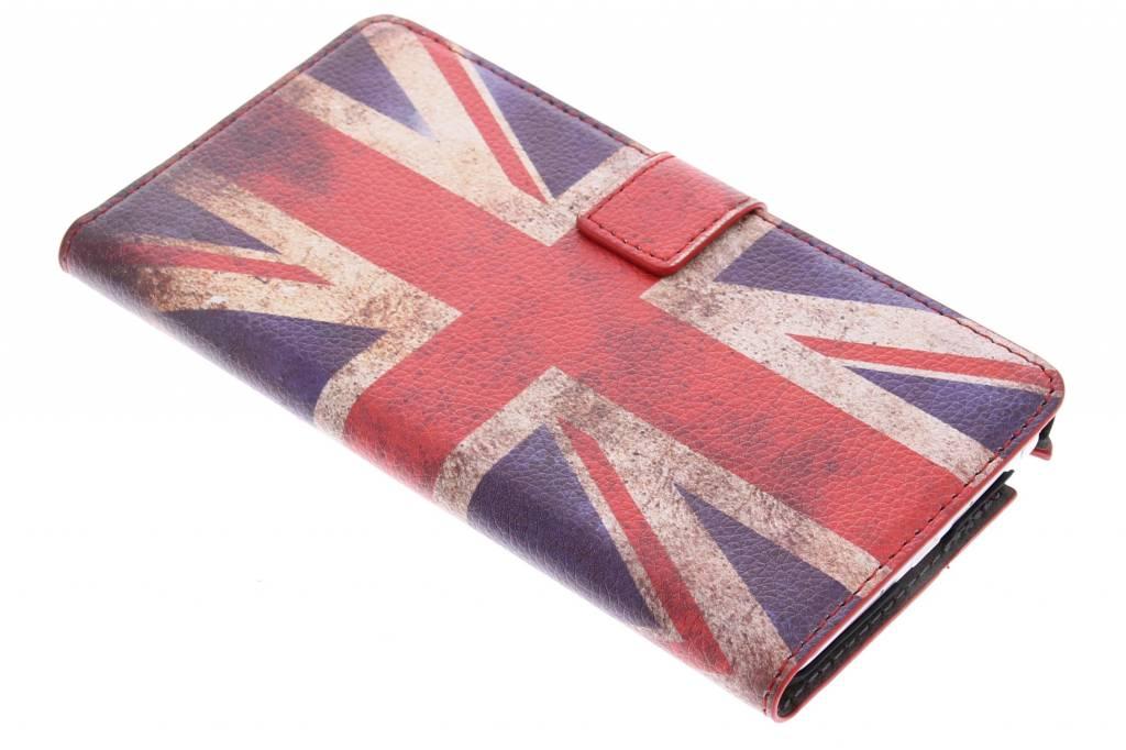 Vintage Britse vlag booktype hoes voor de Samsung Galaxy Note 4