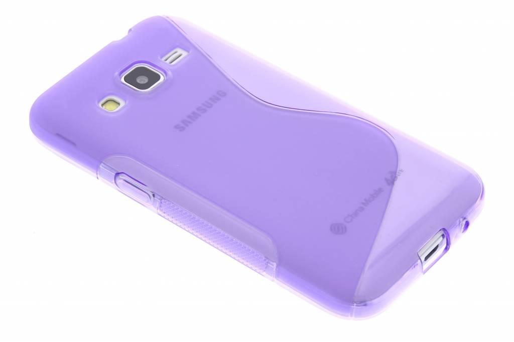 Paars S-line TPU hoesje voor de Samsung Galaxy Core Prime