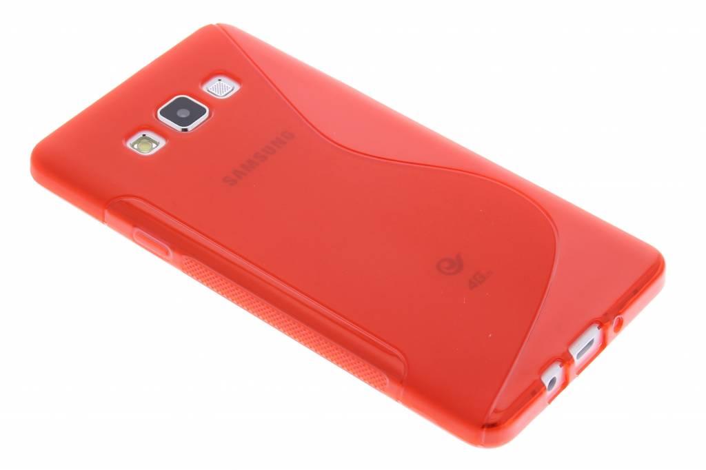 Rood S-line TPU hoesje voor de Samsung Galaxy A7