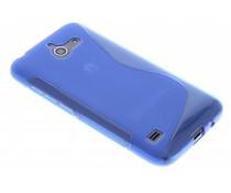 Blauw S-line TPU hoesje Huawei Ascend Y550