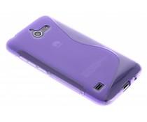 Paars S-line TPU hoesje Huawei Ascend Y550