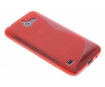 Rood S-line TPU hoesje Huawei Ascend Y550
